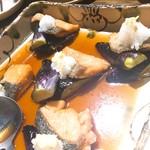 和彩dining 花 - 秋鮭と茄子の揚げ浸し (大根おろし しょうが)