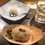 和彩dining 花 - 栗ごはんの握り飯(野沢菜) 柚子シャーベット