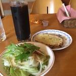 カノン - パスタセット       サラダ・ガーリックトースト・アイスコーヒー
