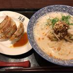 74356224 - クリーミー坦々麺+餃子