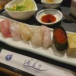 すし政ダイニングさら - 料理写真:すし政上握り寿司セット