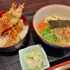 酒処麺処きのした - 料理写真:天丼(釜玉うどん付)