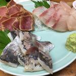 魚がし 福ちゃん - 極上まぐろ漬け、活きかんぱち、朝〆長崎あじ