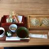 蕎麦きり風土 - 料理写真:そば二種盛り1200円+天ぷら(エビ抜き)400円