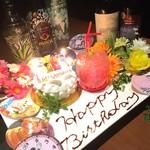 バー ランコントレ - 誕生日などのお祝いもぜひランコントレで♪ランコントレでしかやってない素敵な演出で主役をお祝いいたします♪