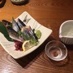 四十八漁場 - 秋刀魚 刺身と炙り盛り