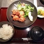 黒姫鶏舎 - 唐揚げ定食 850円