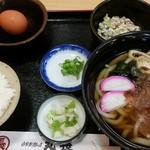 丸長 - うどん定食650円
