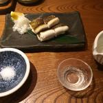 四十八漁場 - 陸前高田 穴子の白焼き 脂が乗って甘みがあり、身も肉厚で辛口の酒にぴったり