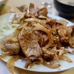かんだ食堂 - 豚生姜焼定食(本日のサービス品) 650円