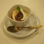 リシュー - 栗とほうじ茶のプリン
