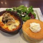 星乃珈琲店 - ラザニア&パンケーキプレート 全体