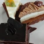 パレットアトリウム - ル ショコラ、みかんモンブラン、栗のモンブラン