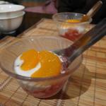 タイ料理レストラン Tha Chang - ゼリー、缶ミカン、ヨーグルト