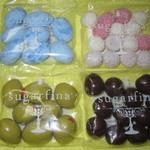 Sugarfina - メープル・バーボン・キャラメル、マティーニ・オリーブ・アーモンド、アトミック・サワー、ロビンズ・エッグ・キャラメル