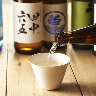 ◆厳選◆こだわりのある日本酒、焼酎取り揃えてます。
