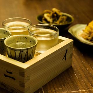 ◆厳選◆こだわりのある日本酒、焼酎、ワイン取り揃えてます♪