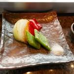 ステーキハウス ミディアムレア - 焼き野菜