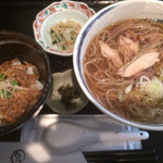 74389952 - ランチ 冷たい肉そばセット ¥850