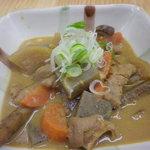 八笑 - 野菜のたっぷり入ったモツ煮です。