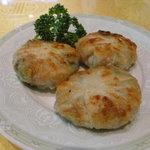 Chinhaishin - D定食の、焼きニラまんじゅう