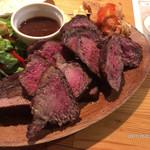 74390767 - お肉はイチボ、ハラミ、クラシタの3種類。