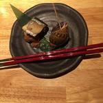 74397105 - 秋刀魚の梅煮とバイ貝うま煮