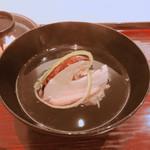 蟹と松茸のお吸物