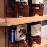 のらくら - 焼酎・日本酒セルフコーナー