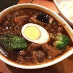 鴻 - 「黒スープ・ビーフカレー(お肉200g)」1,300円