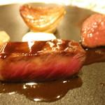 NoMad Grill - 牛肉2種のグリル 30日熟成国産黒毛和牛の内モモ アンガス牛のサーロイン