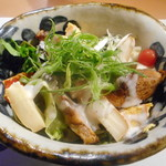 清流満月 - 九条ネギのサラダ