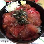 そば新 - まぐろづけ丼 1000円。