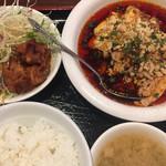 陳家私菜 - ランチ  皇帝口水鶏ご飯セット¥800。 ご飯とスープはお代わり無料。