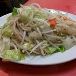 74412304 - 野菜炒め単品 450円。野菜しゃきしゃき❗