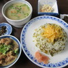 あそ路 - 料理写真:【たかなめし定食 1295円】(たかなめし・だご汁・おから・ホルモン煮込み)