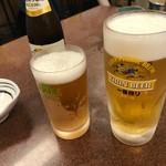 三ちゃん食堂 - まずは生ビール