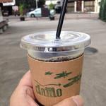 ダモ コーヒー ハウス - テイクアウトのアイスコーヒー(深煎り)(税込340円)