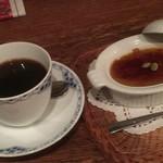 74421315 - 栗かぼちゃのクリームブリュレとコーヒーのセット1,280円