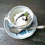 カフェ プルドゥ - 【ランチ】デザート(バニラアイス)