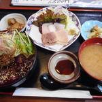 仙台・くじら 一乃谷 - 料理写真:W定食 1,500円