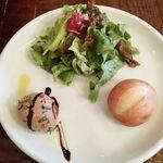74422995 - 鶏白レバーのムース ラズベリーソース