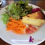 エスプリ - 前菜・玉葱とベーコンのキッシュ