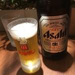 名古屋名物 みそかつ 矢場とん - ビール中ビン600円税別