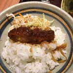 名古屋名物 みそかつ 矢場とん - 味噌カツご飯完成
