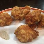 餃麺 しら石 - 鳥の唐揚げ〜(*^▽^*)❤️