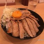 74435037 - 【絶品 ポークステーキ丼/大】(1000円税込)