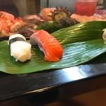 石松寿司 - 2017年10月 笹の葉