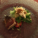 中国料理 XVIN - 前菜 カツオとクラゲと棒棒鶏