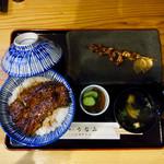74437795 - 鰻丼(並)+肝串